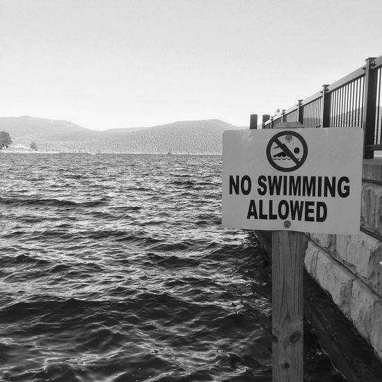 Limits to our freedom Swimming No AllOwed Beach Fall Time Lake
