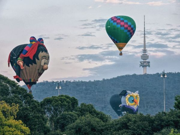 Visit Canberra Balloons🎈 Ballons Balloons Mountains And Valleys Mountains #nature_perfection #nature #bestshooter_nature #bestnatureshots #landscapephotography #landscape_captures #love_nature #skyporn #ig_captures_nature #insta_sky_lovers #instamountain #ig_exquisite #instanature #icatching #tnhusa #td_nature #top_la Enlighten Canberra Balloon Festival Enlighten2016 EyeEm Masterclass Taking Pictures Hills, Mountains, Sky, Clouds, Sun, River, Limpid, Blue, Earth Eye For Photography Showcase March Canberra Canberra City Australia Australia & Travel