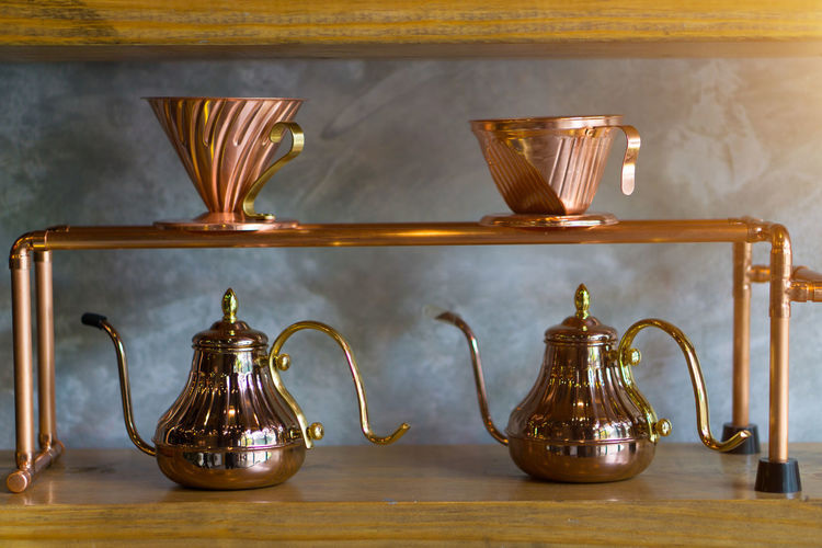 Coffee Kettle Coffee - Drink Coffee Cup Copper  Jar Jug Pot