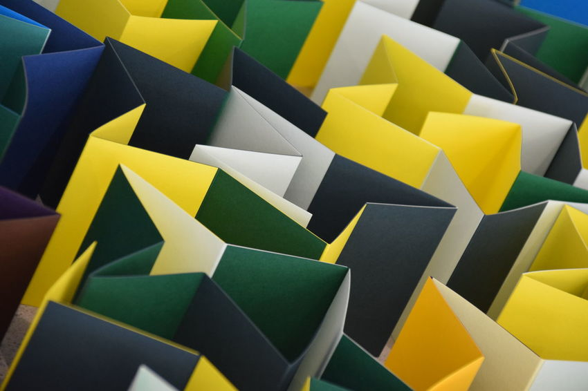 Paper City - a Hull 2017 installation - Hull City of Culture 2017 Close-up Day Full Frame Green Hull Hull 2017 Hull City Of Culture 2017 Indoors  Large Group Of Objects Multi Colored No People Paper Yellow