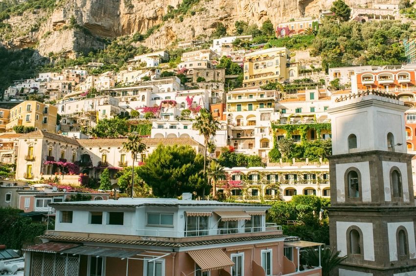 Architecture Building Exterior Italy Mountain Positano Positano, Italy Tower Town Vacation