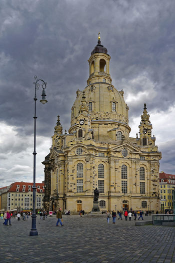 Dresden / Germany Frauenkirche Dresden Himmel Und Wolken Neubau UNESCO World Heritage Site Adult Architecture Building Exterior Built Structure Cloud - Sky Day History Large Group Of People Leisure Activity Lifestyles Men Outdoors People Place Of Worship Platz Real People Religion Sky Spirituality Tourism Travel Travel Destinations Vacations Weltkulturerbe Women