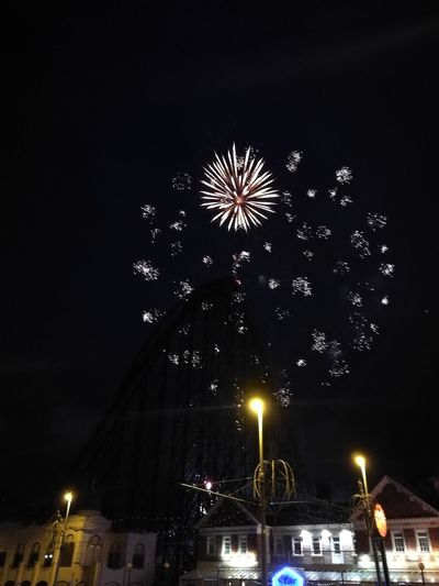 Blackpool Pleasure Beach Fireworks Fireworks Handheld Phone Photography Blackpool Pleasure Beach Night Photography No Filter Theme Park Long Exposure