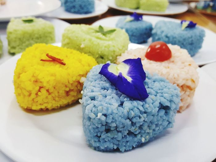 Natural colour Colourful Nature Rice Cake Rice - Food Staple Natural Colours Natural Beauty Food Foodphotography Food And Drink Natural Art  Flower Multi Colored Gelatin Dessert Close-up Sweet Food Sushi Prepared Food Japanese Food Dessert