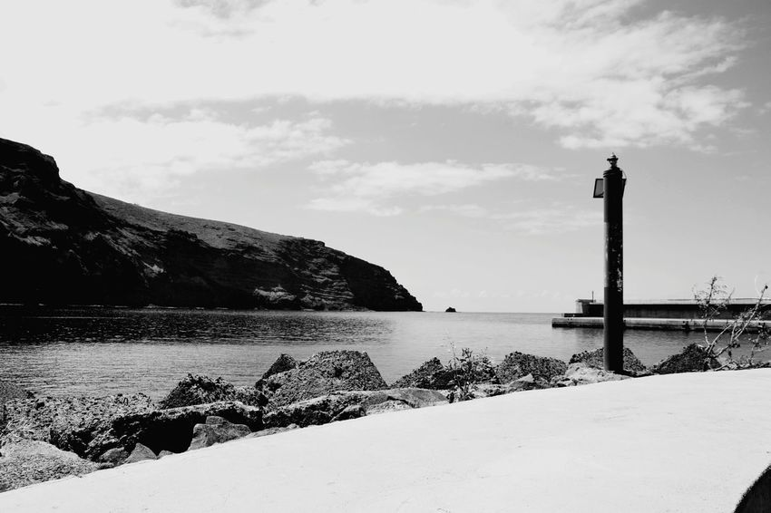 Lighthouse Sea Vacations Protection Beach Sky Travel Destinations Water No People Day Outdoors Nature Nautical Equipment Blac&white  Blackwhite Blacknwhite Blackandwhitephoto Black & White Photography Blak And White Black And White Collection  Blackandwhitephotography