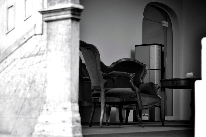 EyeEm Gallery My Point Of View Old Chair Old Armchair Low Angle View Old City Building Oldbuilding EyeEm Selects History No People Architecture Taking Pictures Taking Photos EyeEm Best Shots The Week On EyeEm Monochrome Photograhy Old Town Black & White Black & White Photography Photographers On EyeEm Politics And Government Building Interior