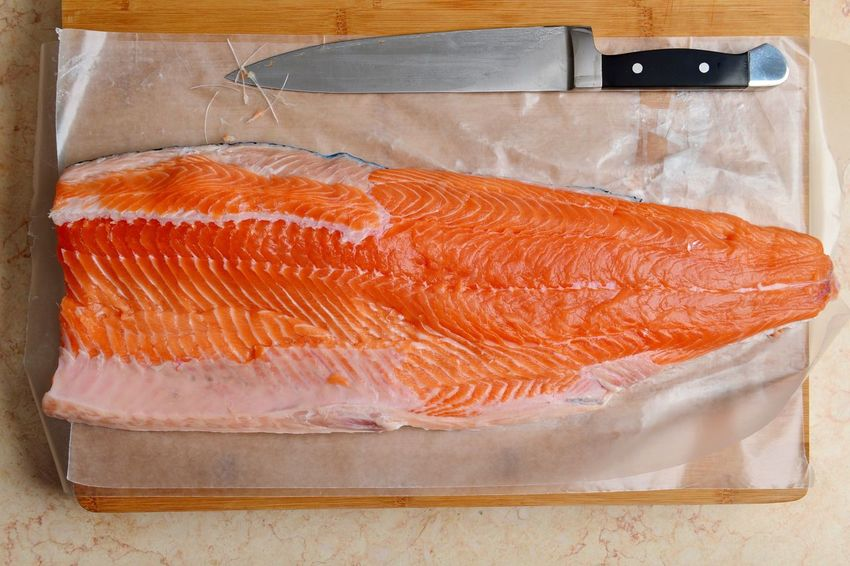 Salmon Fish Omega 3 Fillet Healthy Fish Bones Salmon Filet Orange Good Fats Live To Eat Food