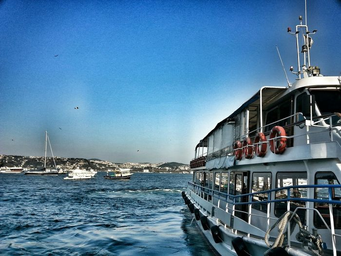 Bosphorus Sea View Ship City Love Istanbul