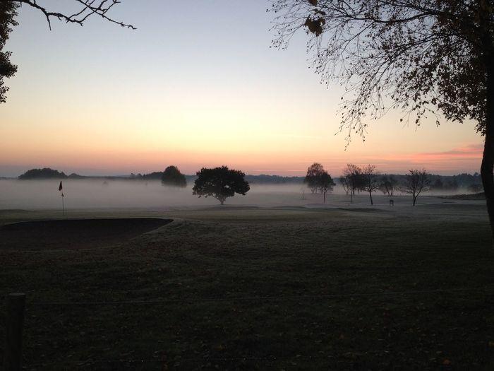 Fog Foggy Morning Golf Golf Course Sunrise Sunrise_Collection