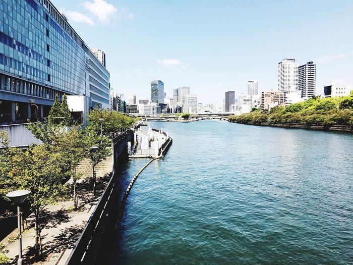 天満橋からの景色は好きです。