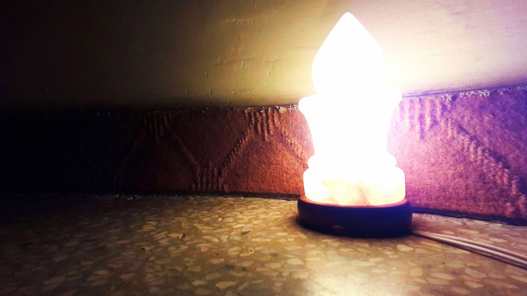 Lighting Equipment Illuminated No People Indoors  Heat - Temperature Close-up Surface Level Lamp Lamps And Lights. Salt Mine Saltlamp