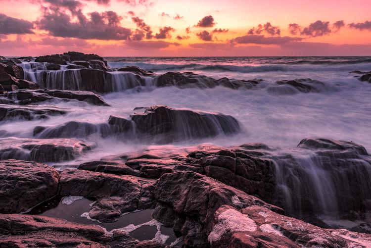 Filters Nikon Ocean View Rock Long Exposure Ocean Sea Seascape Solitude Sunset