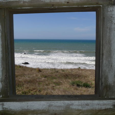 Nature Photography Beach Beauty In Nature Framed Shot Horizon Horizon Over Water Looking Thru A Window Outdoors Scenics - Nature Sea Sky Tranquil Scene Water Wave Window