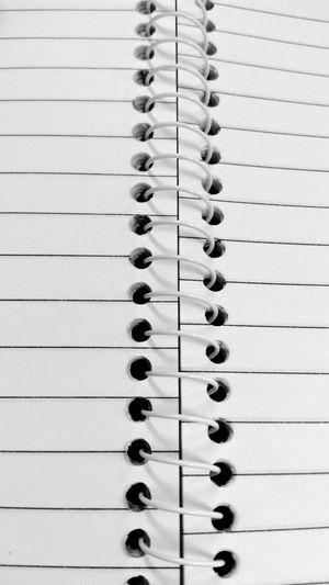 Full frame shot of spiral notebook