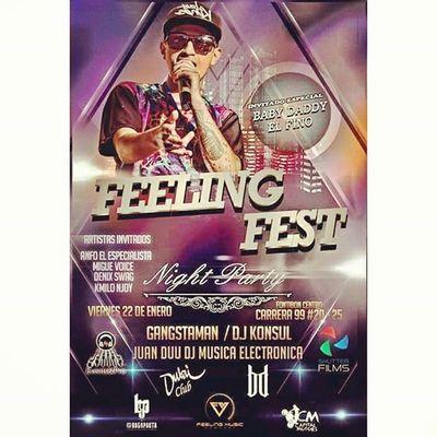 Si no tienes plan hoy los invito esta noche al gran concierto urbano... Feelingfestbogota con los mejores artistas en vivo INVITADO ESPECIAL @yosoybabydaddy djs invitados @gangstaman_ @djkonsul Juandudj Y MUCHAS SORPRESAS MAS... info en el flayer https://www.facebook.com/events/561743537315872/ apoya @bogopautagroup @feelingmusicbta Events Concerts Urban Music Party Night Djs Live Dubaiparty Bogotá Flyer New Talent Fest Entertaiment Feelingmusic Artist Friday