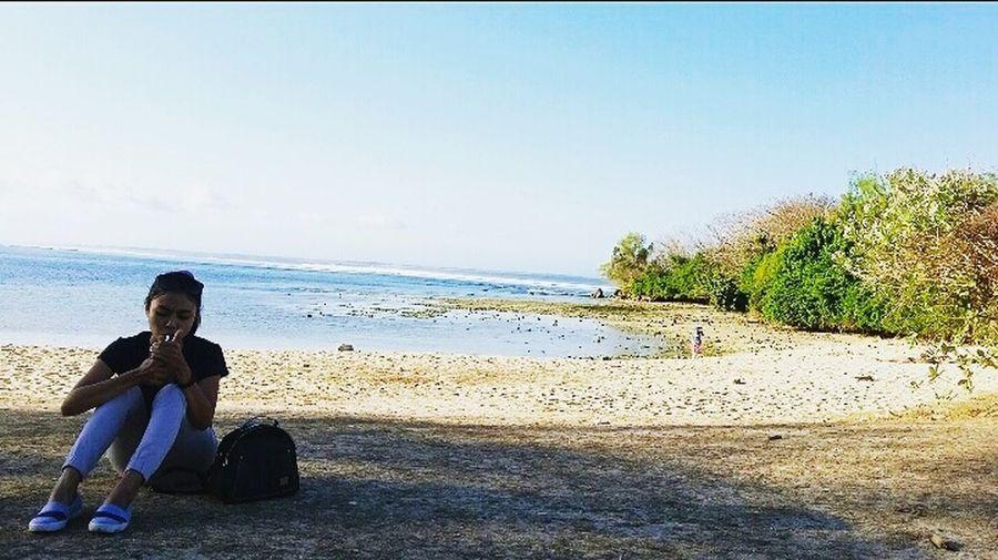 Santai kaya di pantai Nusaduabeach Capturing Freedom Hollidays2015