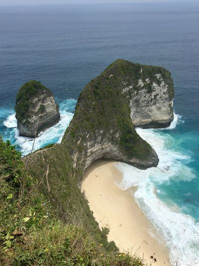 Sea Water Beach Land Beauty In Nature Scenics - Nature High Angle View