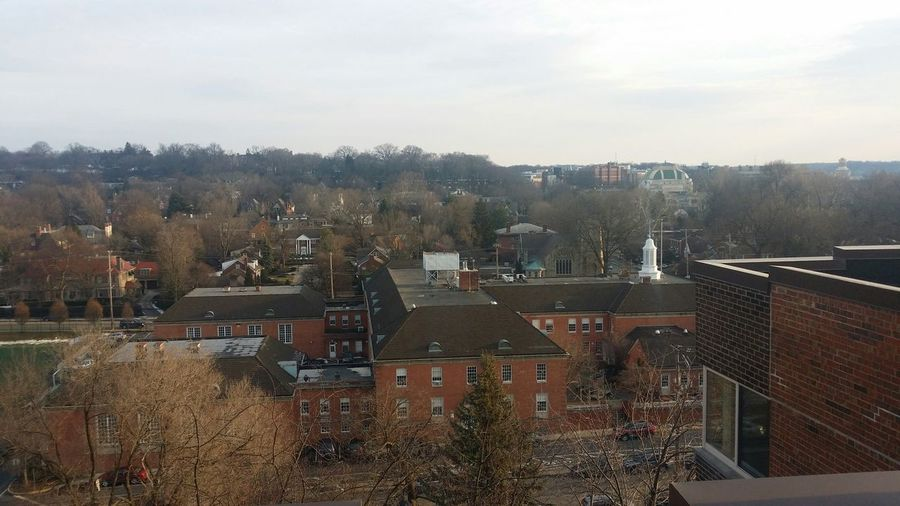 Pictures from roof at work. Working Pittsburgh Shadyside