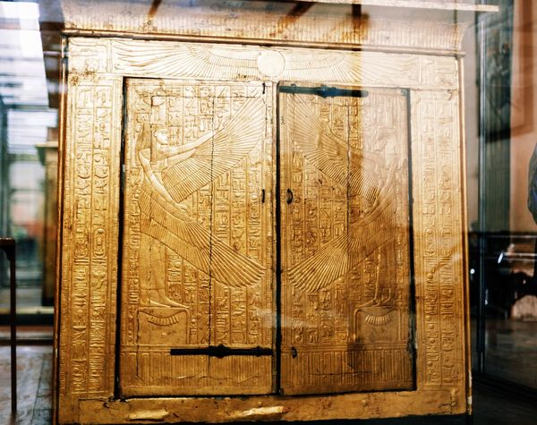 Built Structure Close-up Closed Design Door Egypt Egypt Cairo Egyptian Egyptian Museum Egyptian Statue Egyptology Golden Old Ornate Part Of Tout Ankh Amoun Tresure Tut Ankh Amon Wood Wood - Material Wooden