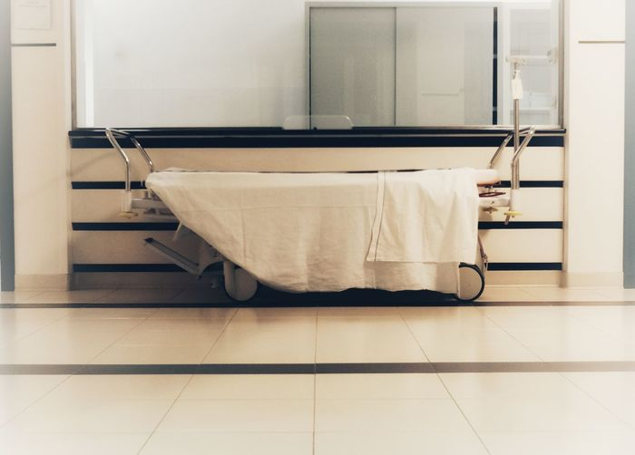 Covered Stretcher In Hospital