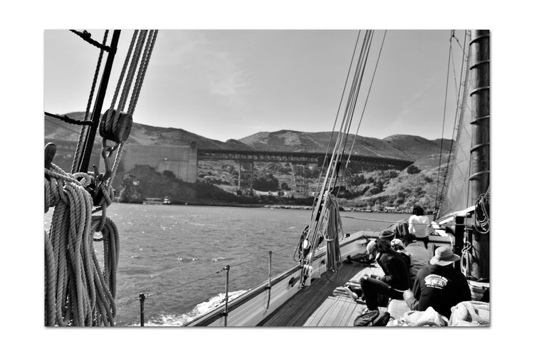 Sailing Aboard The Alma 5 San Francisco CA🇺🇸 The Alma 80 Ft. Scow Schooner Wooden-hulled Flat-bottomed Built 1891 Sailing San Francisco Bay Monochrome_Photography Monochrome Alma's Deck Ship's Rigging Sails Marin Headlands Shore Of Sausalito Southern Anchorage Golden Gate Bridge Black & White Black & White Photography Black And White Black And White Collection  Bnw_friday_eyeemchallenge