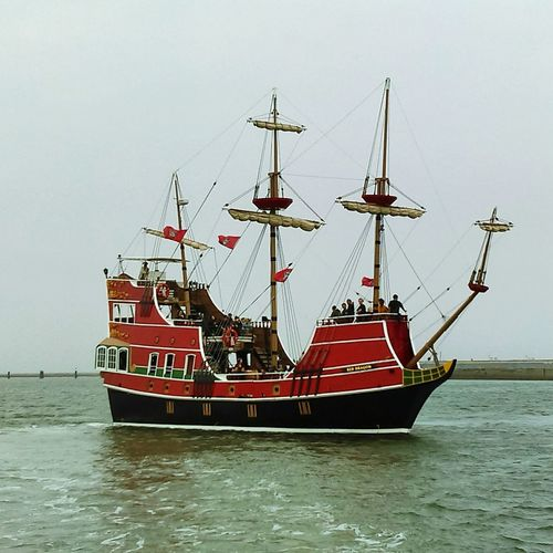 Showcase April Red Dragon Pirate Ship. Oceanside Pirate Ship Cannons Lost Treasure