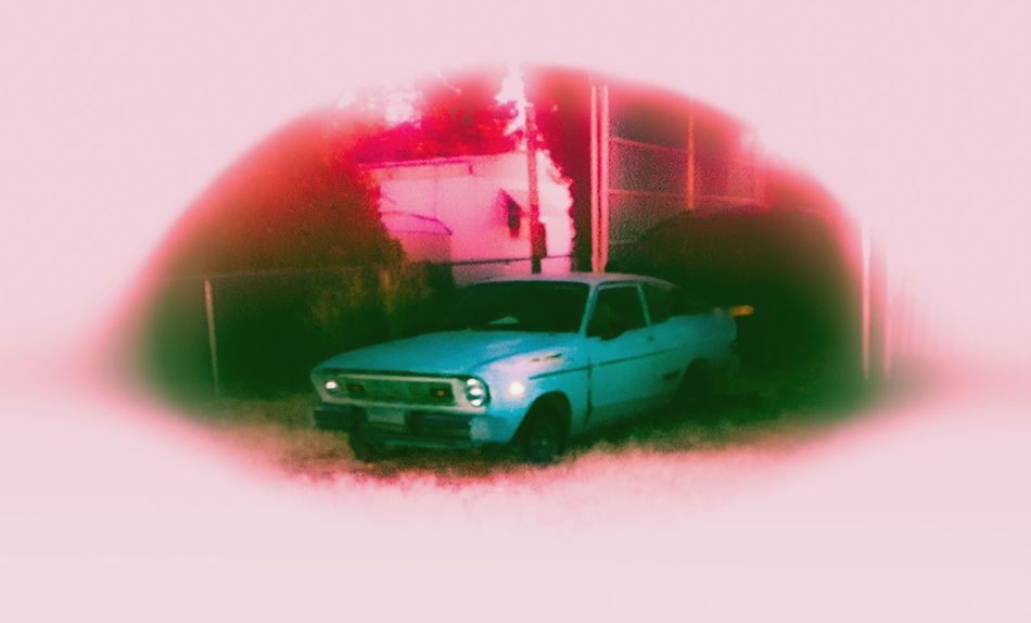 Dreamin' Car No People Mode Of Transport Transportation Taking Pictures FUZZ Blurry Aesthetics Warm Light Old Car Junk Cars