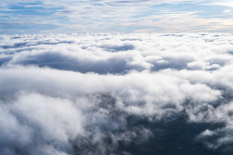 Cloud - Sky Sky Scenics - Nature Beauty In Nature Cloudscape White Color No People Tranquility Idyllic Backgrounds Tranquil Scene Fluffy Blue Outdoors Aerial View Day Dramatic Sky Softness Above Cloud Clouds And Sky Cloudscape