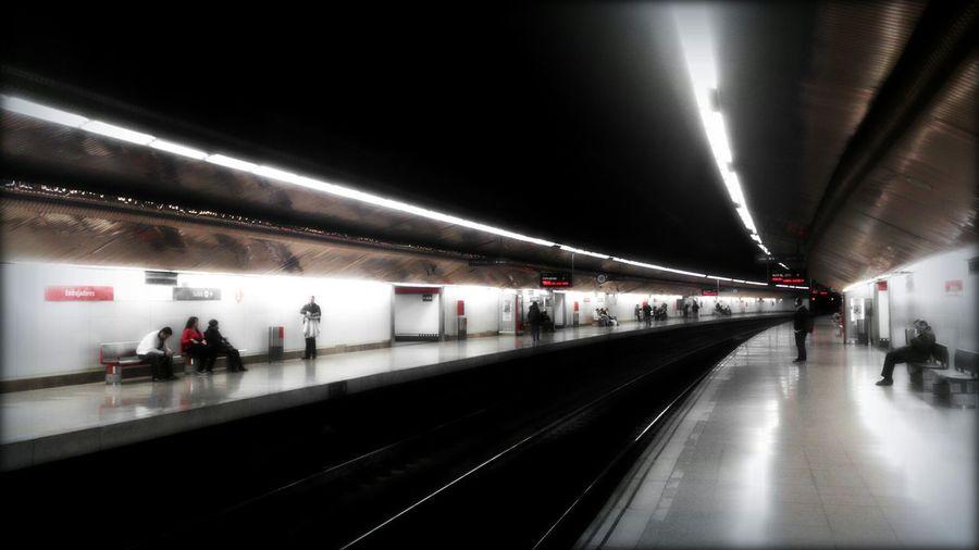 Estación en curva. Train