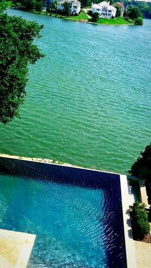 Water High Angle View Swimming Pool Reflection Nature Day Beauty In Nature Lake Scenics EyeEm Best Shots Irwin Collection EyeEm Gallery Lake House  Wealth Wealthy Lifestyle Beautiful Home Luxury Lake View Mansion Photography