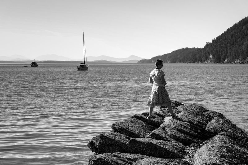 Ellie Galiano Island, BC Full Length One Person Outdoors Adult Water Adults Only People Beauty In Nature Sky Day Scenics Tranquility Tranquil Scene Straightfromcamera Eyemphotography Fujixseries Horizon Over Water Beach Sea Park Life Mountain Lowkeyphotography