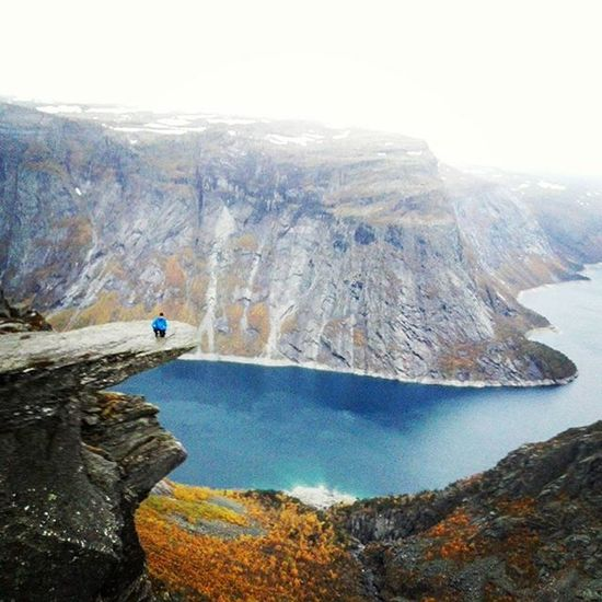 Me on top of Trolltunga Photo by @foreverstighansen Norway Ilovenorway Water Ferryride Sun Sea Weekend Trip Hiking Adventure Adventuretime Trolltunga Mountain Mountaintop Brother Fjeld Nordsøen Livoggladedage Happytimes Friluftsliv Friluftsåret2015 Nature Fall Outdoors Outdoorlife