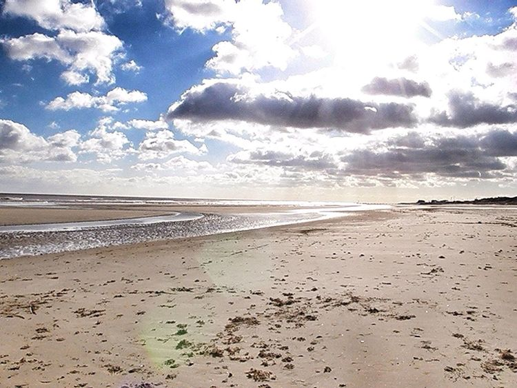 Mablethorpe Beach with a bright Sky