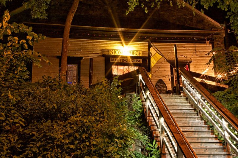 Stone Church Meeting House Bar Stairs