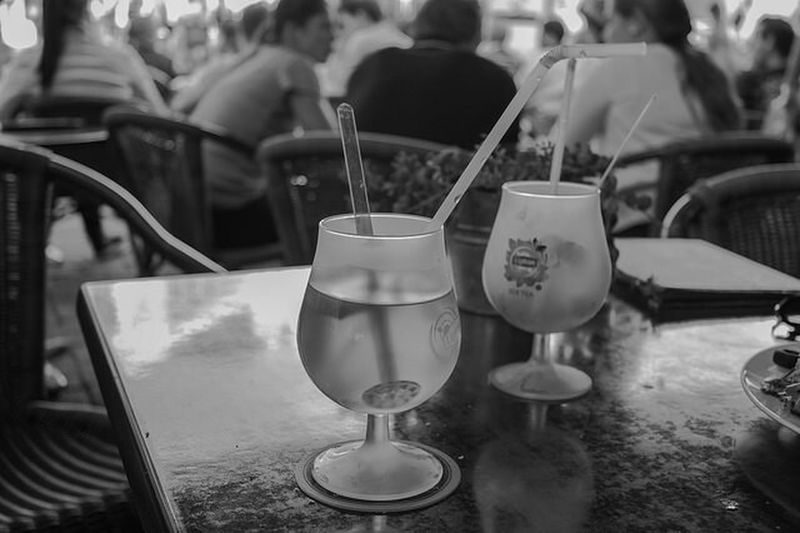 Streetphotography Black And White Drinks Having A Good Time
