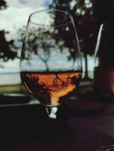 The World is getting turned to his upside-down... Opposite Opposite View Rosewine Upside Down Photography Upside Down Drink Glass Refreshment Alcohol Food And Drink Wineglass Wine
