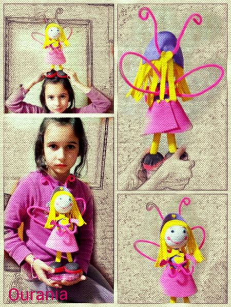 We made our first Fofucha !!! Of course she had to had wings ! :-D ♥♥♥ Fofucha Doll Handmade Crafts