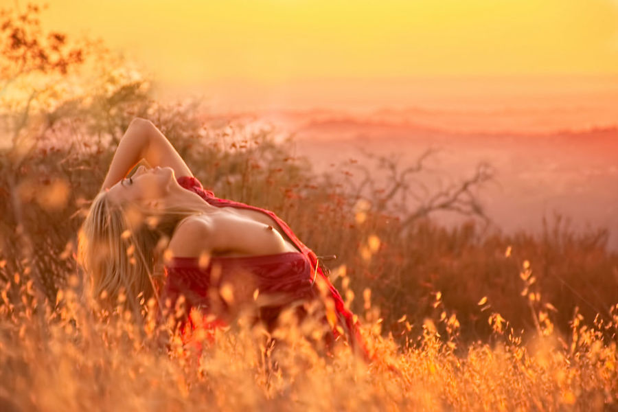 Sunkissed Sexygirl Beautiful Woman Nude-Art Barebreast Blond Hair Sunset Beauty Tree Rural Scene Young Women Relaxation Summer Hippie Sunlight Fall Countryside