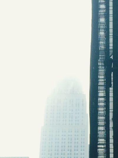 Fassade Work Fassade Fog Cloudy Sky Skyscraper Empire State Building NYC New York City New York