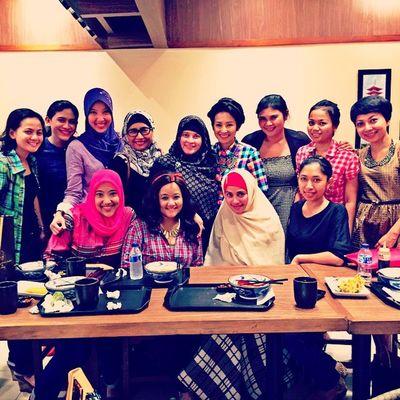 Having such a great time...loveeeeee u all my ladies... Imudsegar Arisan Greatescape