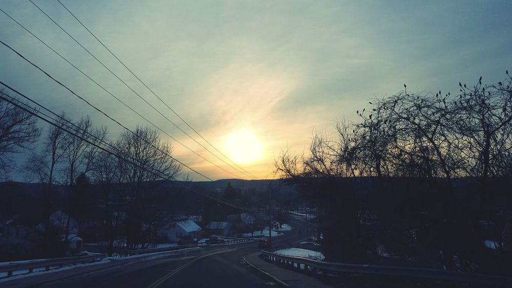 Sunset Drivebyphotography On The Road