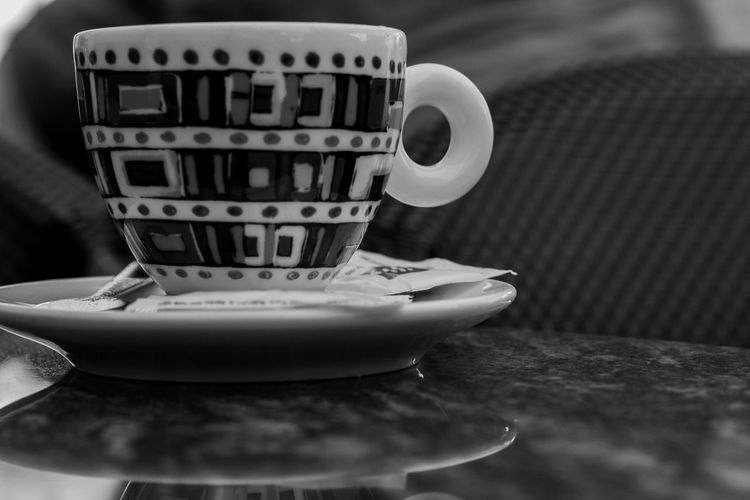 EyeEm Best Shots EyeEmNewHere Eye4photography  EyeEm Gallery Ceramics Close-up Coffee Coffee - Drink Coffee Cup Crockery Cup Drink Focus On Foreground Food And Drink Freshness Indoors  Mug No People Refreshment Saucer Selective Focus Still Life Table Tea Cup Text