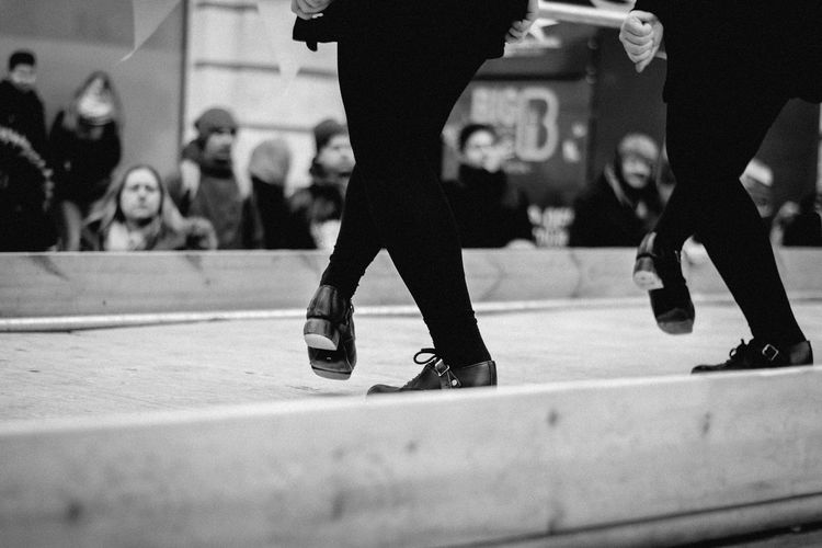 St. Patrick's day parade in London. Dance Irish St.Patricks Day Parade London Step Blackandwhite Uk_photographers Londonlife Sport Men Low Section Ice Rink Skill  Athlete Competition Motion Coordination