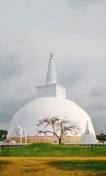 Religion Architecture Place Of Worship Built Structure Dome Spirituality Sky Building Exterior Travel Destinations Day No People Grass Outdoors Ruwanwelisaya Sri Lanka 🇱🇰