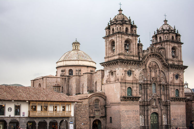 Cathedral of cusco against sky in city