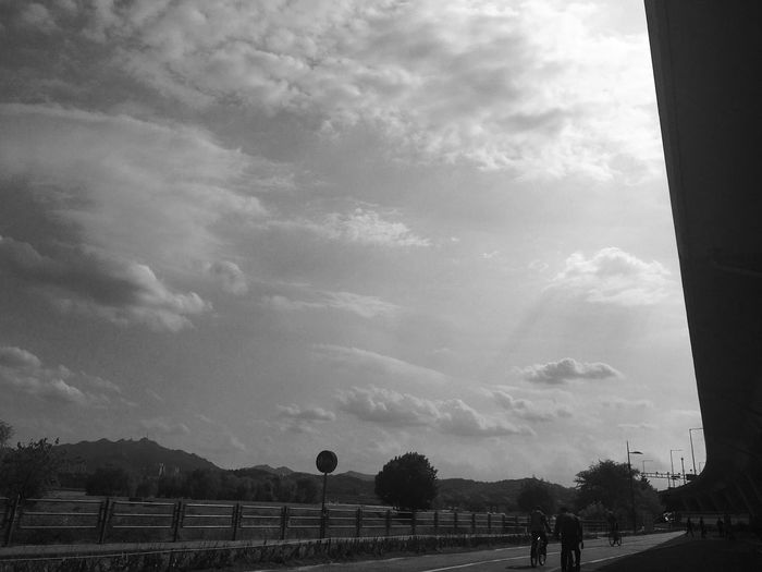 White Clouds Black Background Black And White Blackandwhite Bicker Sky Cloud - Sky Outdoors People