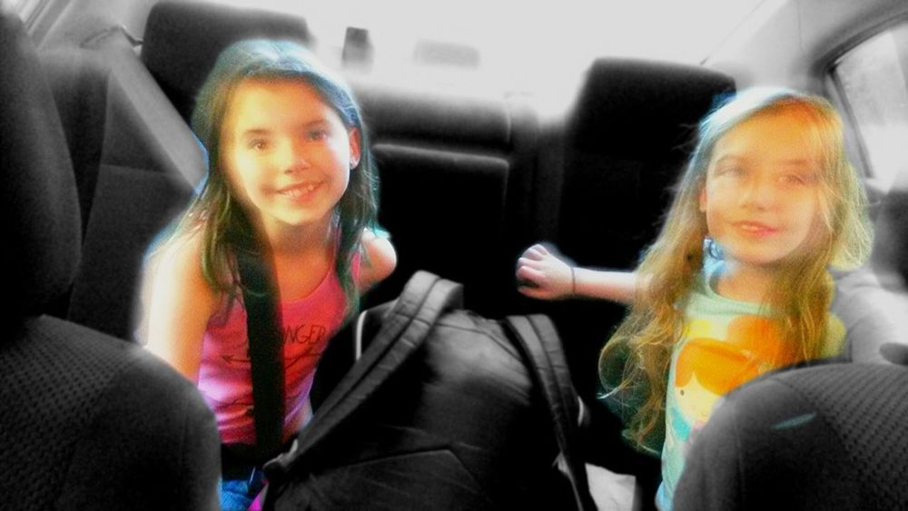 My two angels. Makes a proud dad. Daughters Beautiful Proudfather  Happy People Happpydad Car People Two People Friendship