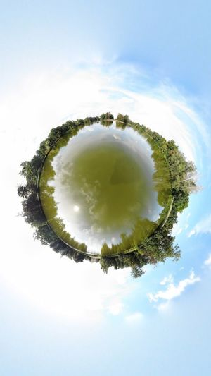 Lake Sky Plant Cloud - Sky Tree No People Circle Geometric Shape Nature Day Outdoors