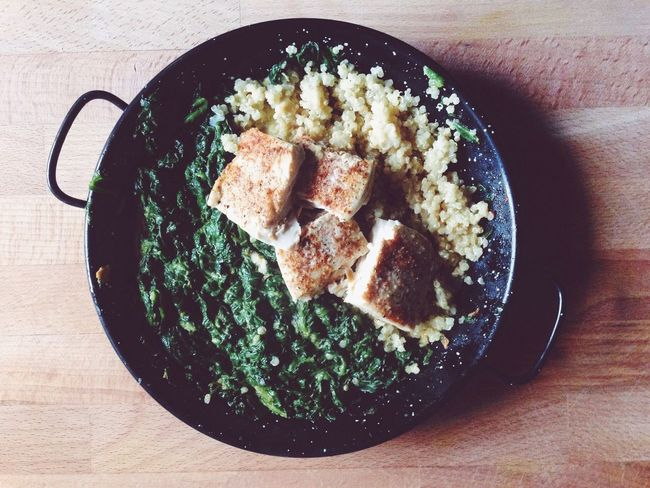 Quinoa Spinach Fish