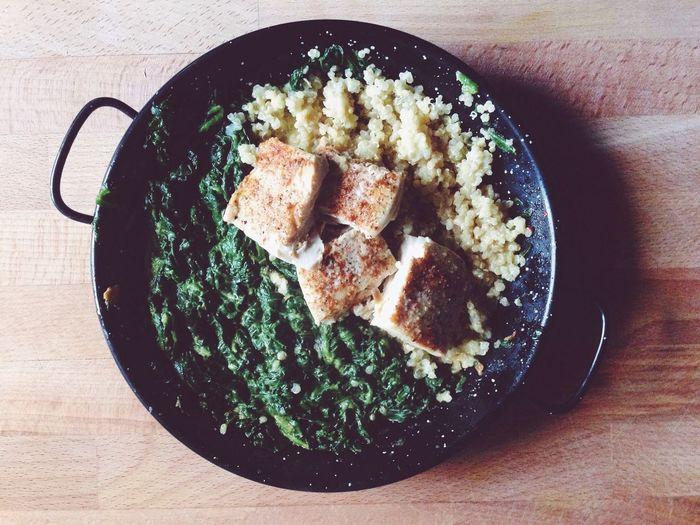 Quinoa Spinach Fish